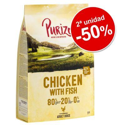 Purizon 2 x 1 kg pienso para perros en oferta: 2ª ud. al 50% - NUEVA RECETA: Puppy Pollo con pescado