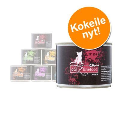 Catz Finefood Purrrr -kokeilupakkaus 6 x 200 / 190 g - kana, lohi, kenguru, lammas, karitsa, sika