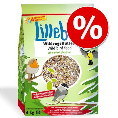 20 kg Lillebro-linnunruokaa erikoishintaan! – kuorittu, 5 x 4 kg
