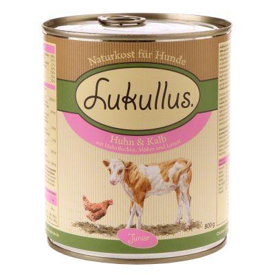 Lukullus Junior Kyckling & kalv – 6 x 800 g