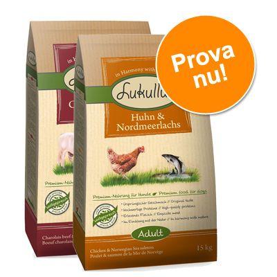 Blandpack: Lukullus kallpressat hundfoder - Blandpack IV: Charolais, Kyckling