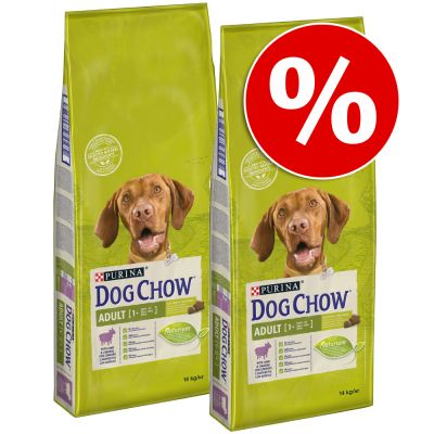 Pack ahorro: Purina Dog Chow 2 x 14 kg - Large Breed con pavo