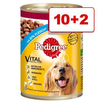 Pedigree koiranruoka: 10 + 2 purkkia kaupan päälle! – Adult Plus, nauta & ydinluu (12 x 800 g)