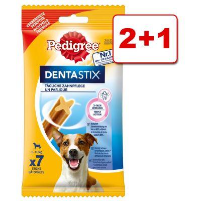 3 x 7 kpl Pedigree Dentastix: 2 + 1 kaupan päälle! - 3 x 7 kpl pienikokoisille koirille