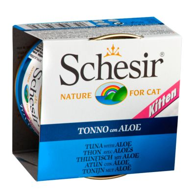 Schesir Kitten 6 x 85 g – Tonfisk med aloe