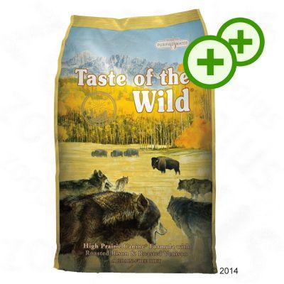 2x zooPisteitä: Taste of the Wild - 12.2 kg - High Prairie Puppy