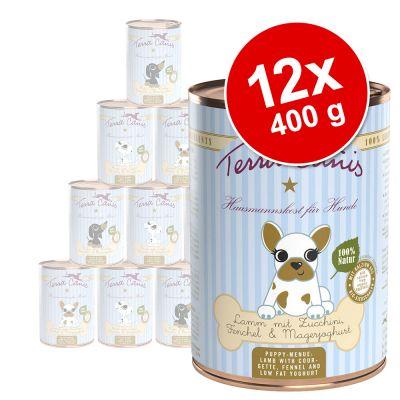 Terra Canis Puppy -säästöpakkaus 12 x 400 g - lajitelma: naudanliha + siipikarja + lammas