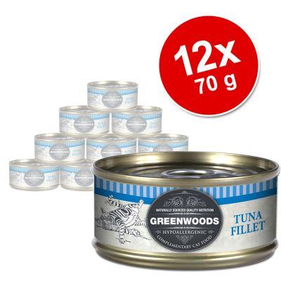 Greenwoods Adult -säästöpakkaus 12 x 70 g - Tuna