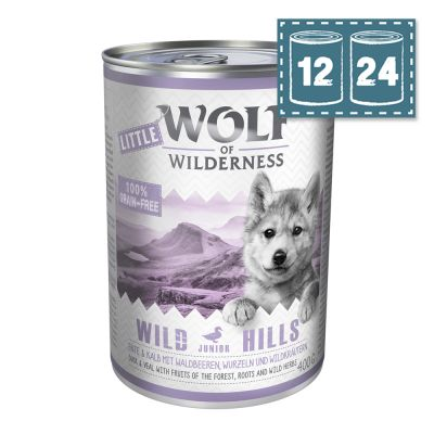 "Sparpaket - Little Wolf of Wilderness Junior ""Wild Hills"" - Ente & Kalb"