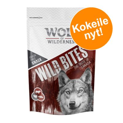 "Wolf of Wilderness Snack - Wild Bites ""The Taste Of"" 180 g tutustumishintaan! - The Taste of Canada"