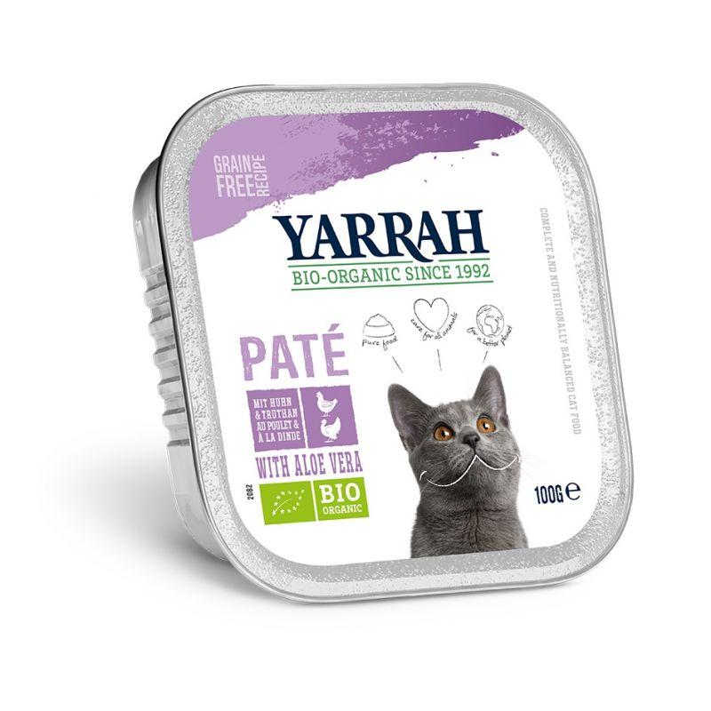 Yarrah biologisch kattenvoer paté 6 x 100 g Rund met Cichorei