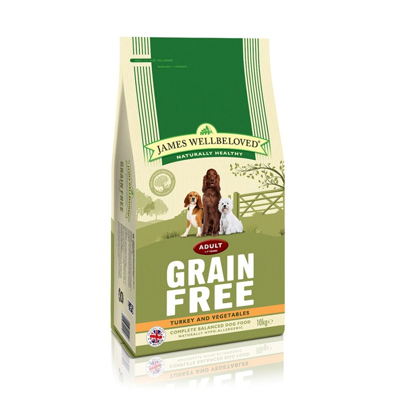 10kg James Wellbeloved Adult Grain-Free – Triple Points!* – Adult Fish & Vegetable (10kg)