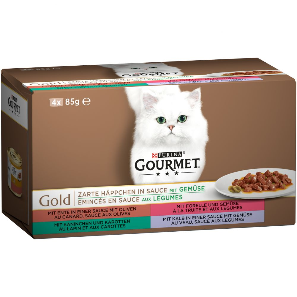 Mixed Trial Packs Double Delicacies Gourmet Gold Wet Cat Food