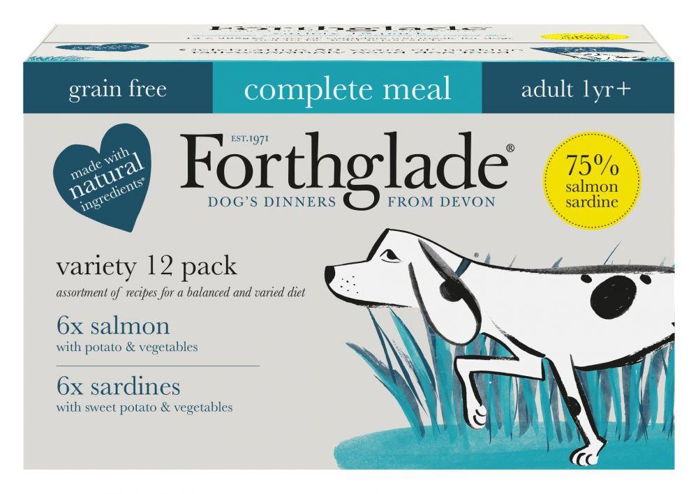 Forthglade Complete Meal Grain-Free Adult Dog - Fish Case - Saver Pack: 36 x 395g