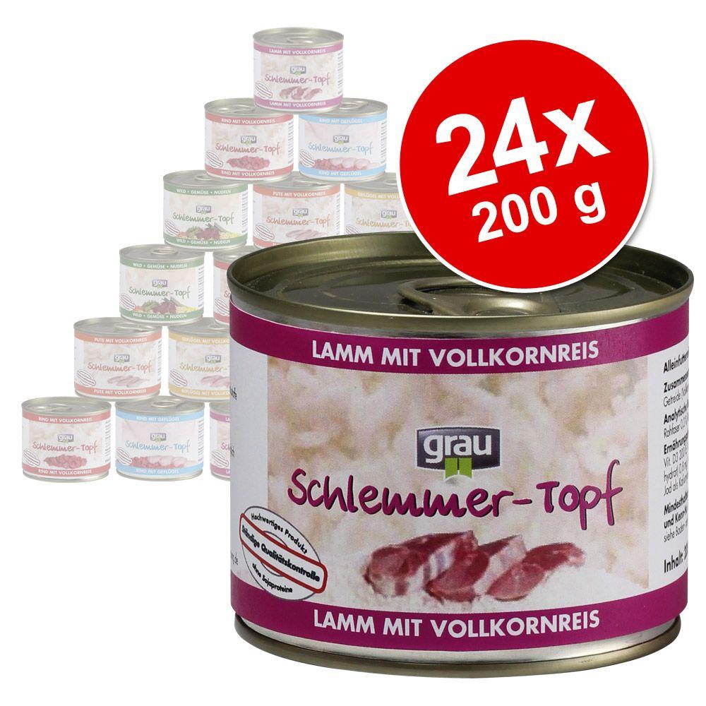 Megapakiet Grau Przysmak Łakomczucha, 24 x 200 g - Pakiet mieszany