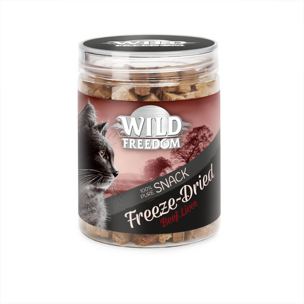 Wild Freedom Freeze-Dried Snacks Beef Liver - Ekonomipack: 3 x 60 g