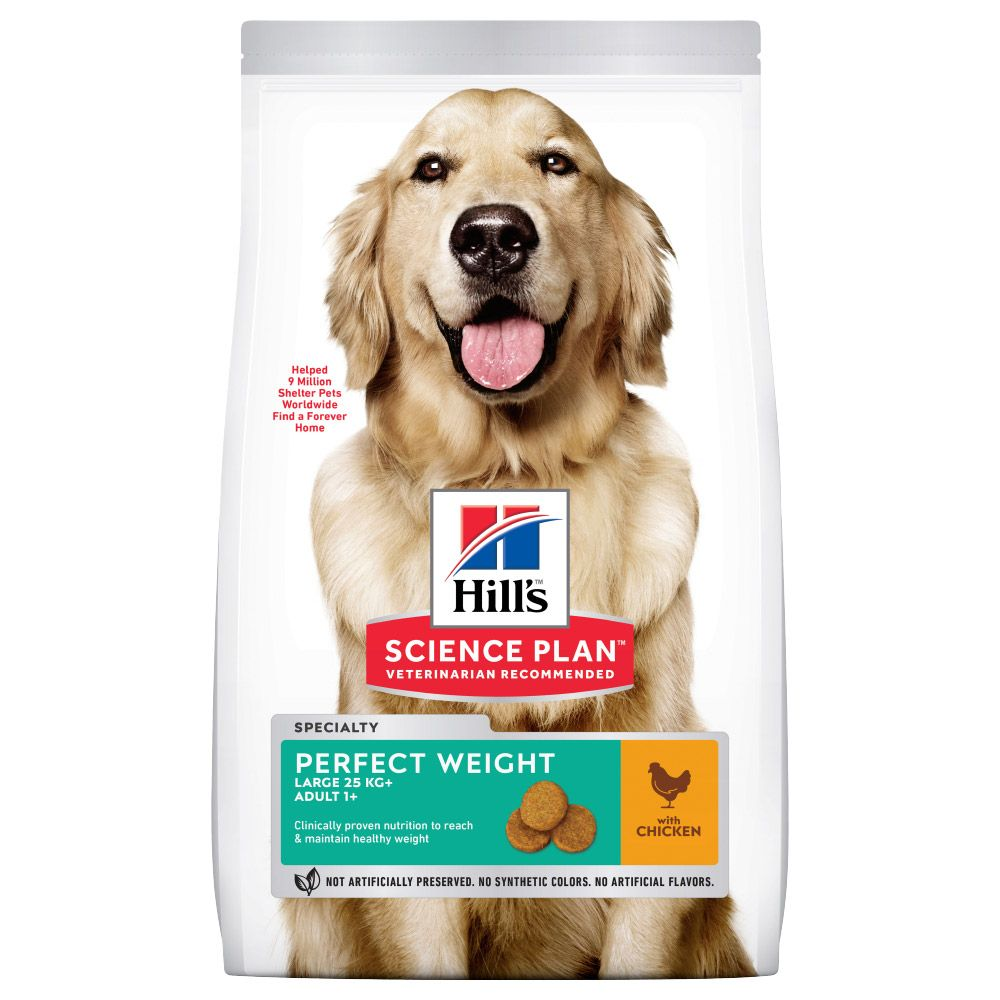 Hill's Science Plan Adult 1+ Perfect Weight Large Chicken Ekonomipack: 2 x 12 kg