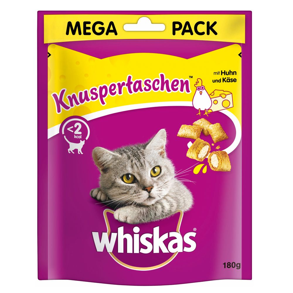 48 x 85g/100g Whiskas Pouches + 4 x 180g Temptations - Special Bundle!* - Kitten Pouches Poultry Selection in Gravy (48 x 100g)