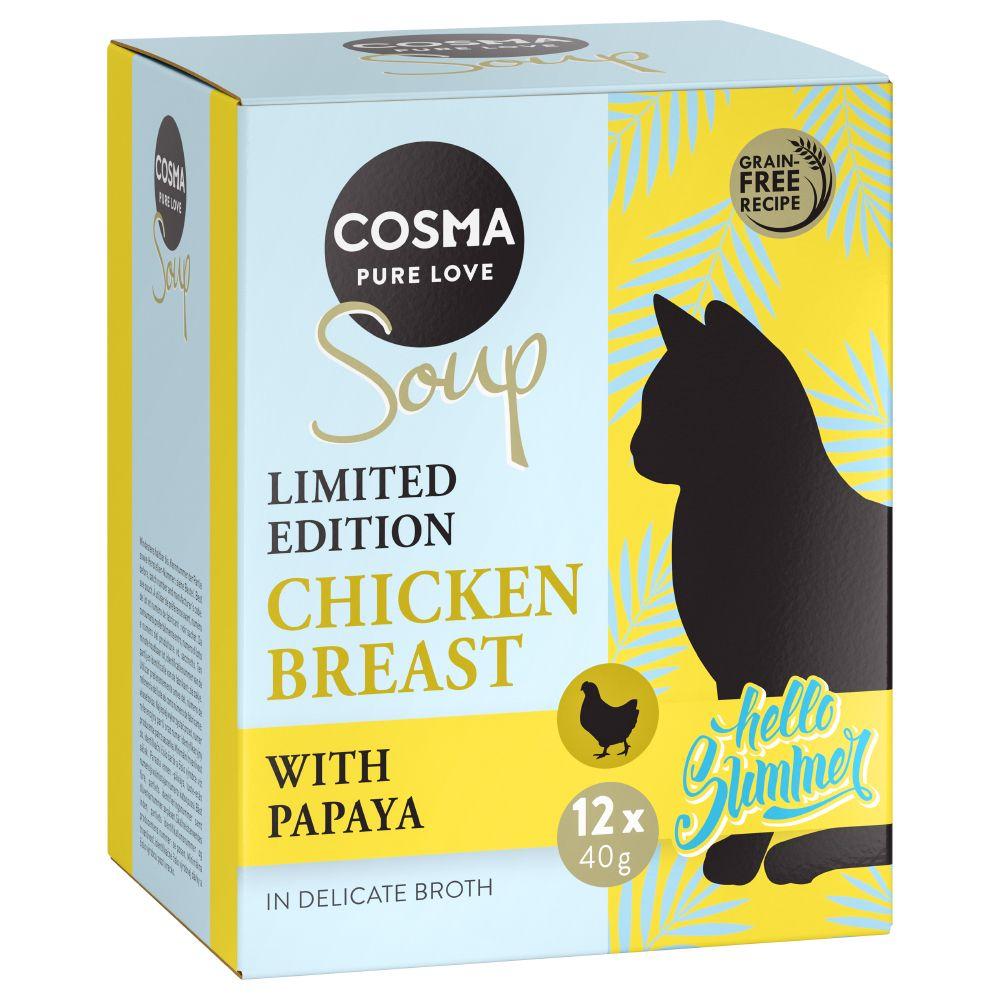 Cosma Soup Sommer Edition 12 x 40 g  - Kyllingebryst & Papaya