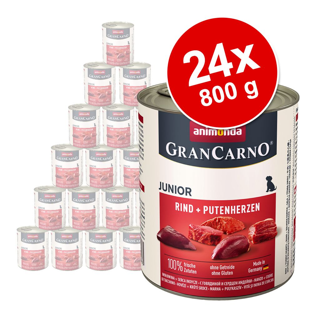 Sparpaket Animonda GranCarno Original 24 x 800 g - Rind & Hirsch mit Apfel