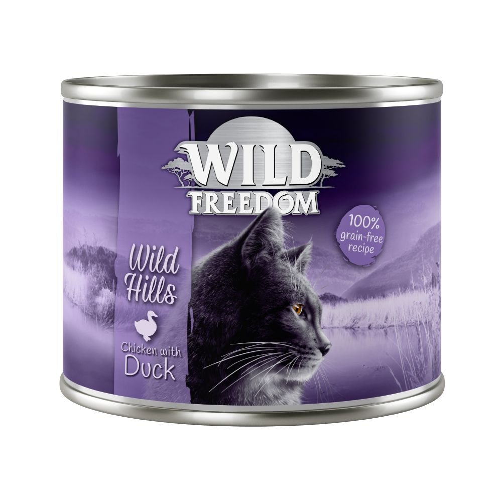 6x200g Adult Wide Country pur poulet Wild Freedom - Pâtée pour chat