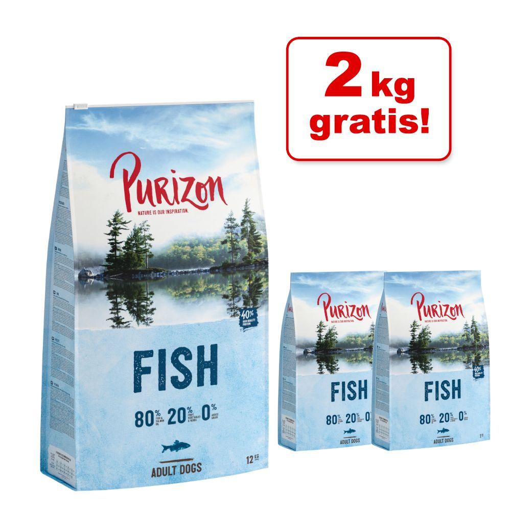 12 kg + 2 kg gratis! 14 kg Purizon  - Huhn mit Fisch