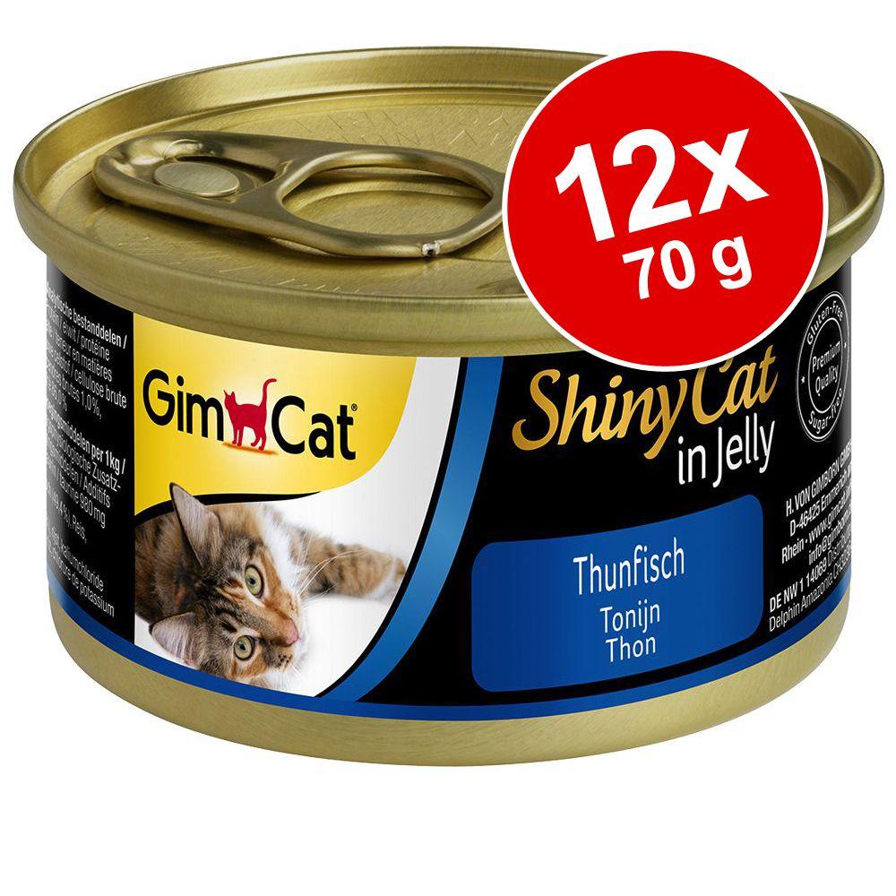GimCat ShinyCat Jelly 12 x 70 g - Tonfisk & räkor