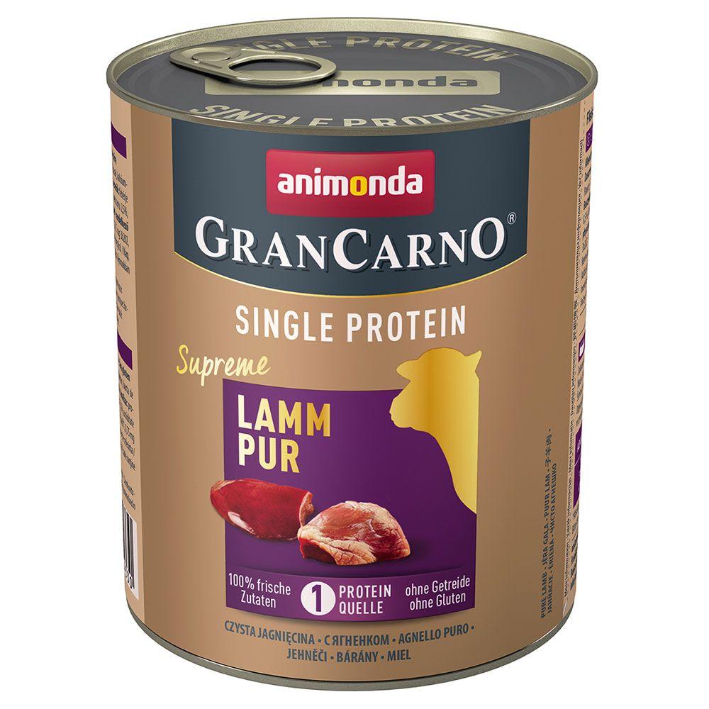 Animonda GranCarno Adult Monoprotein Supreme 6 x 800 g - Lam
