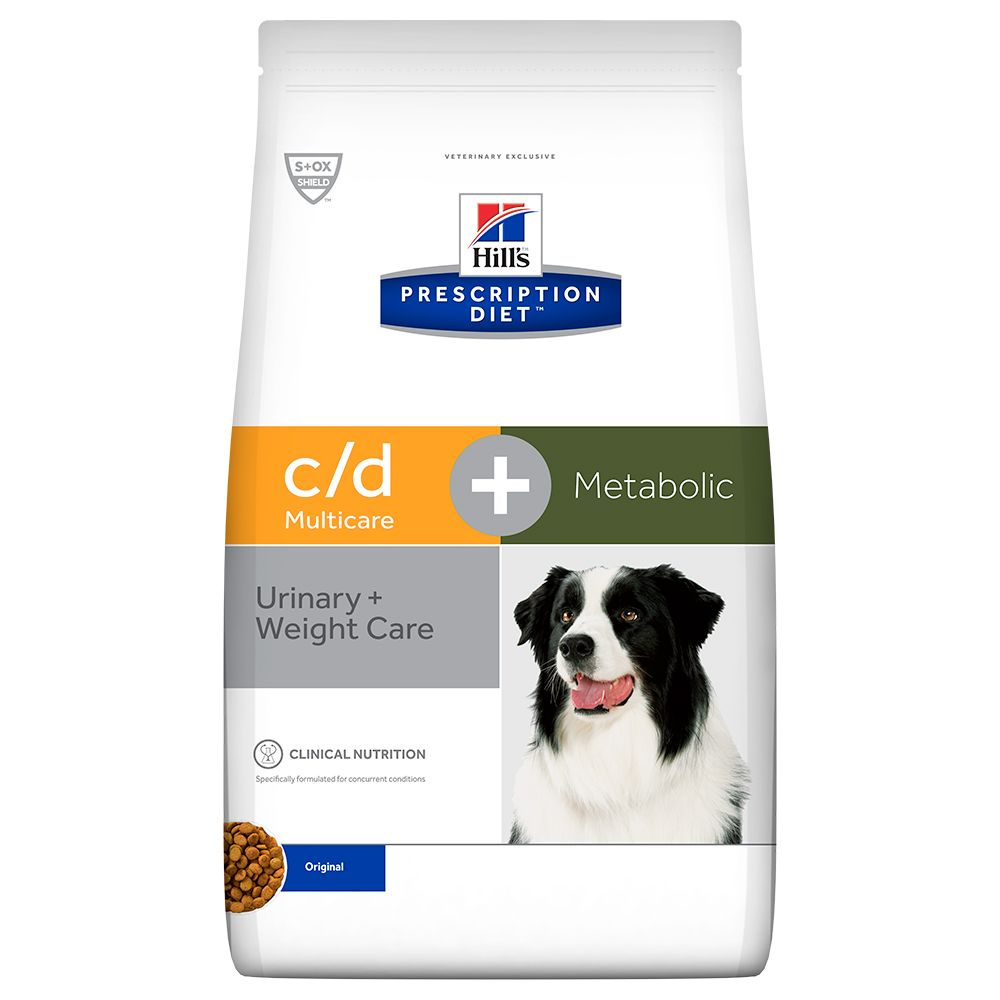 Hill's c/d Urinary Care + Metabolic Prescription Diet pienso para perros - 2 x 12 kg - Pack Ahorro