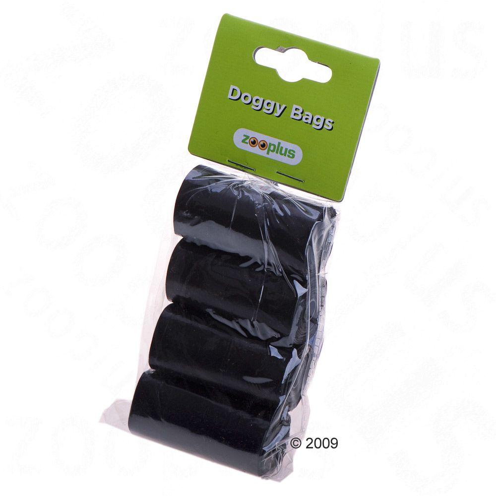 Czarne worki na odchody psa - 4 rolki po 20 worków zapachowych