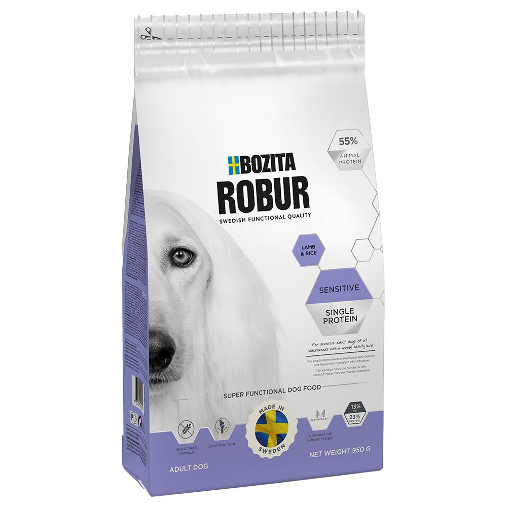 15kg Sensitive Single Protein agneau riz Bozita Robur - Croquettes pour Chien