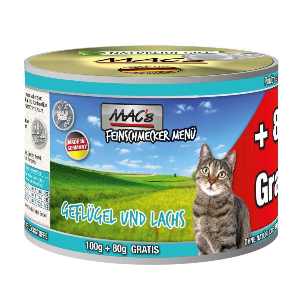 MAC´s Cat Feinschmecker 6 x 180 g - Ente & Kaninchen