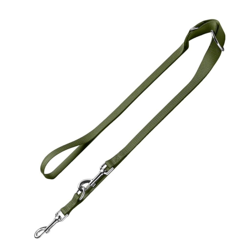 London, olivengrøn 200cm lang, 15mm bred HUNTER hundesnor