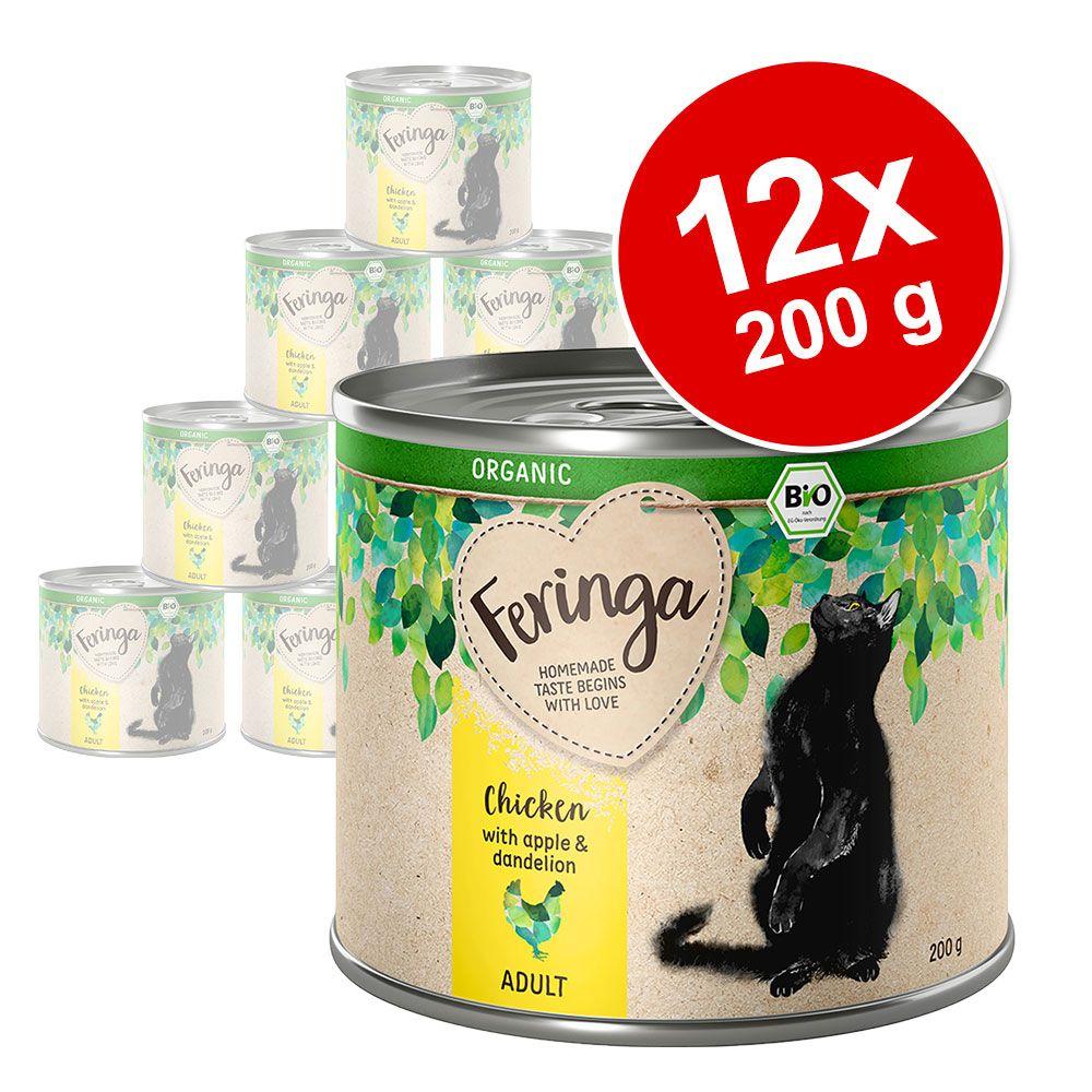 Feringa Organic Adult 12 x 200 g - Anka med päron & kattmynta
