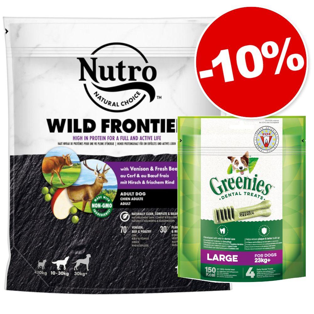 Croquettes Nutro 1,4 kg + friandises Greenies Large 170 g  : 10 % de remise ! - Puppy 10-30 kg agneau, riz