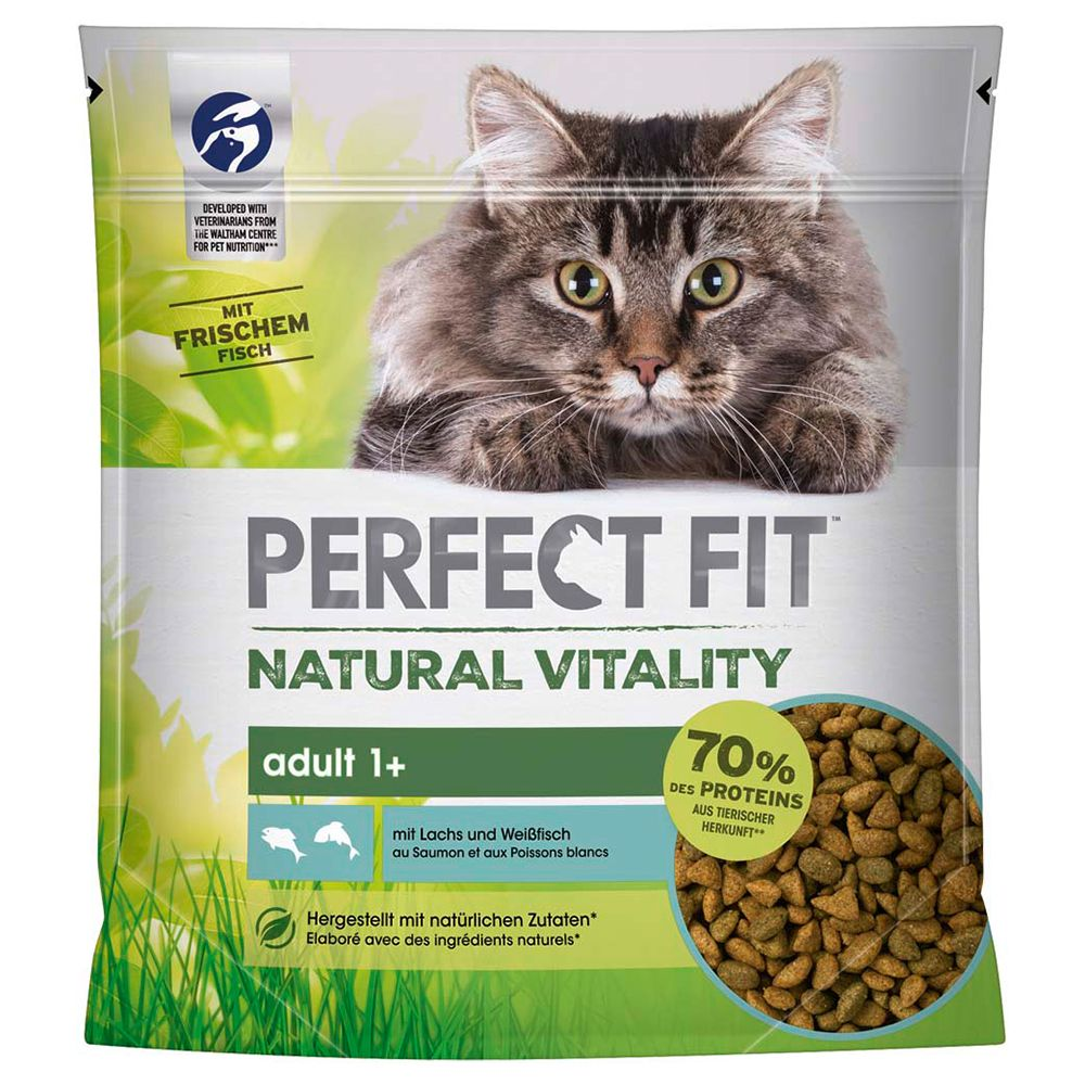 Perfect Fit Natural Vitality Adult 1+ Lax & vitfisk - 650 g