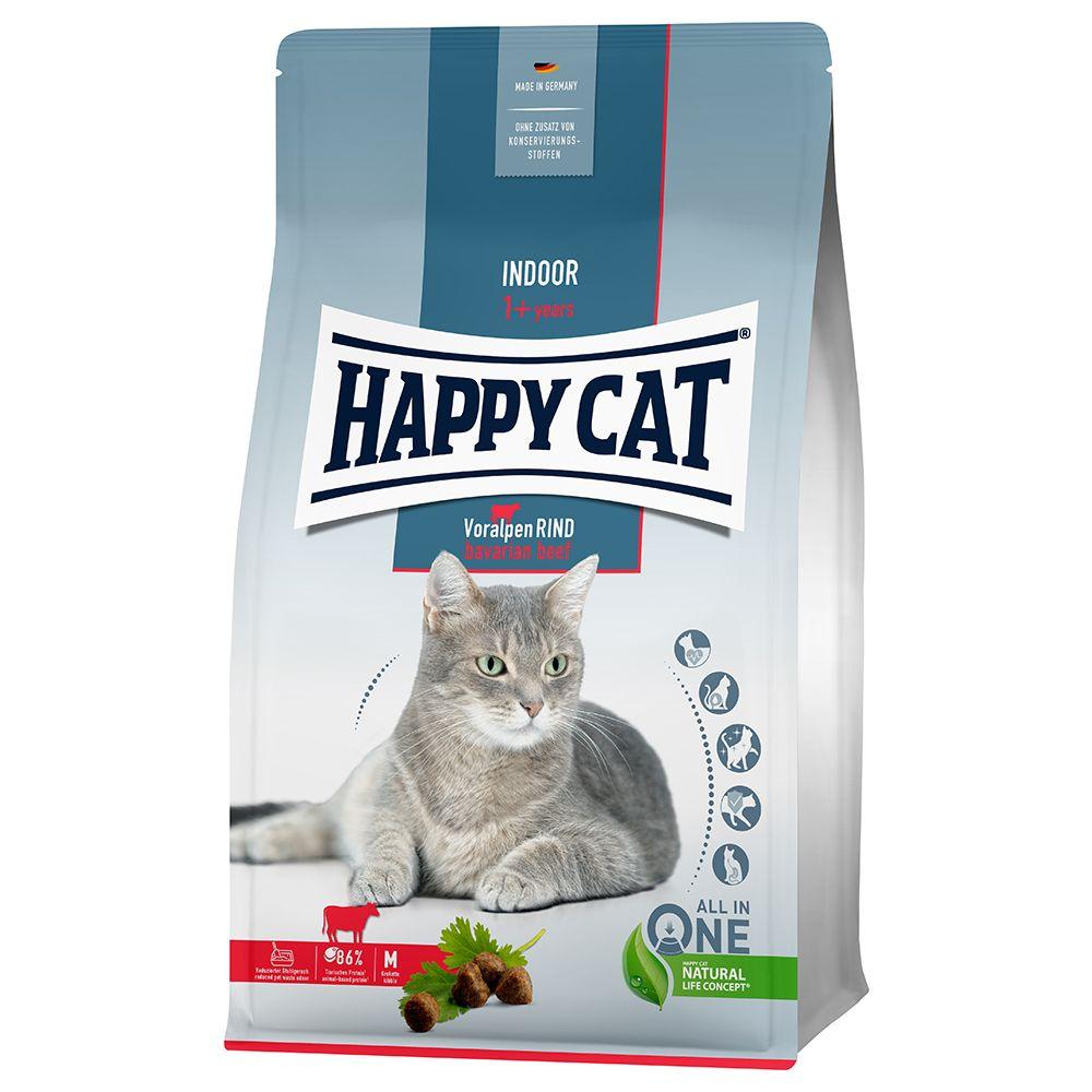 Happy Cat Indoor Bavarian Beef - Ekonomipack: 2 x 4 kg