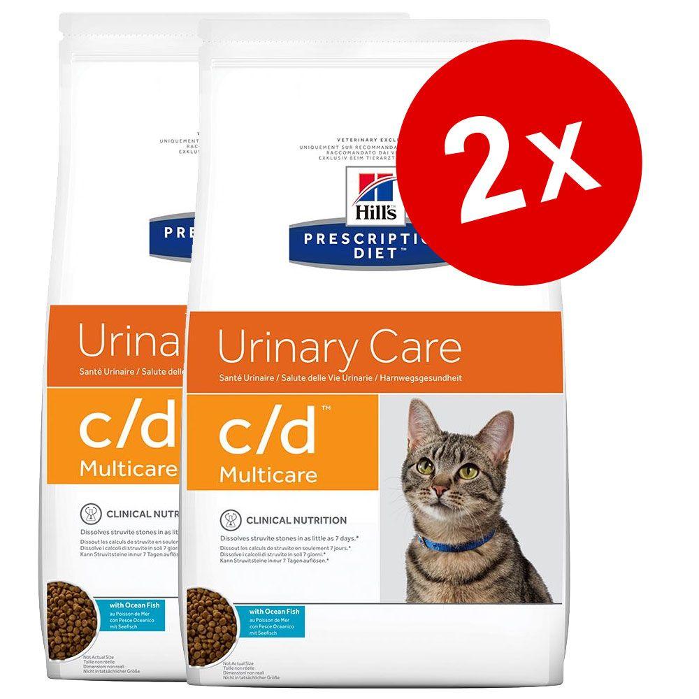 2x10kg c/d Multicare Urinary Care poulet Hill's Prescription Diet pour chat