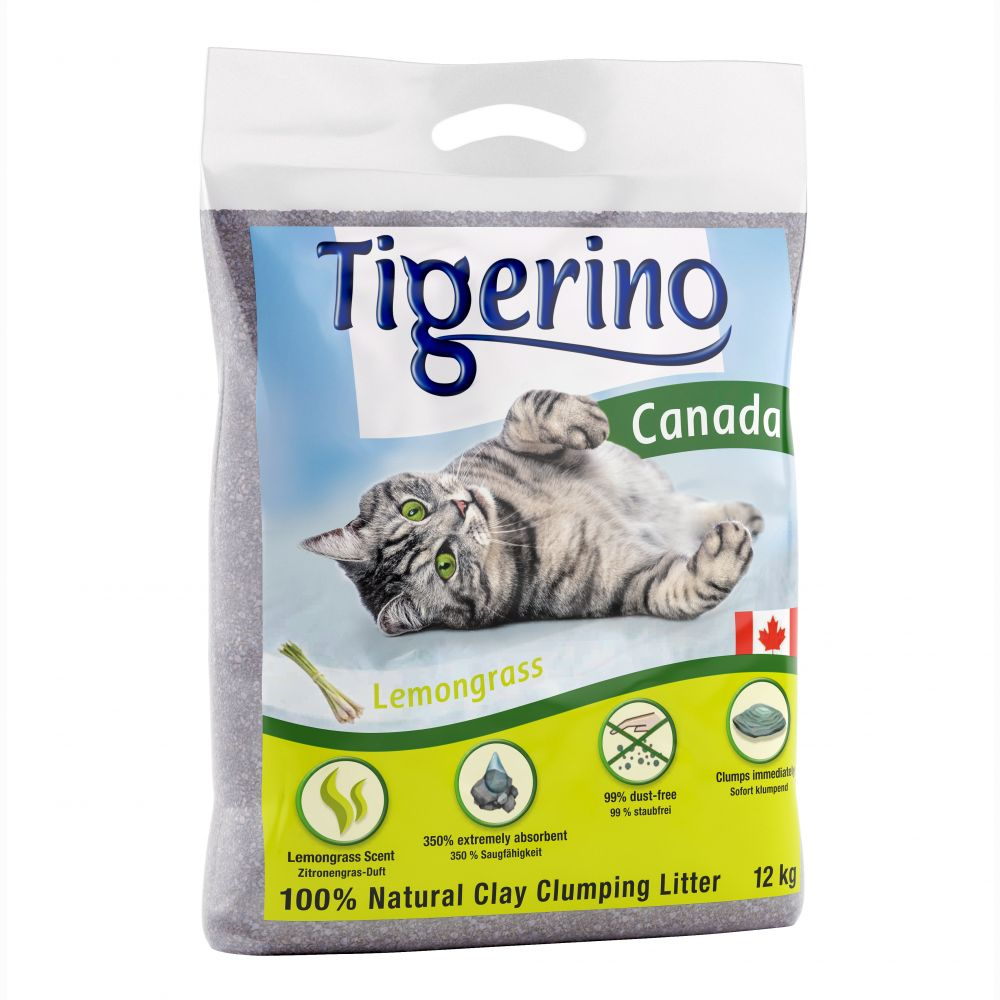 Lemongrass Scented Canada Tigerino Cat Litter
