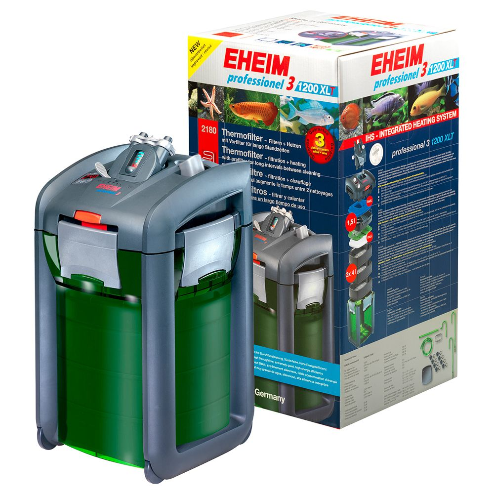 This powerful, easy to use external filter is complemented with a 500W heater. Now you can easily heat and filter large aquariums with the same device. A precise L...