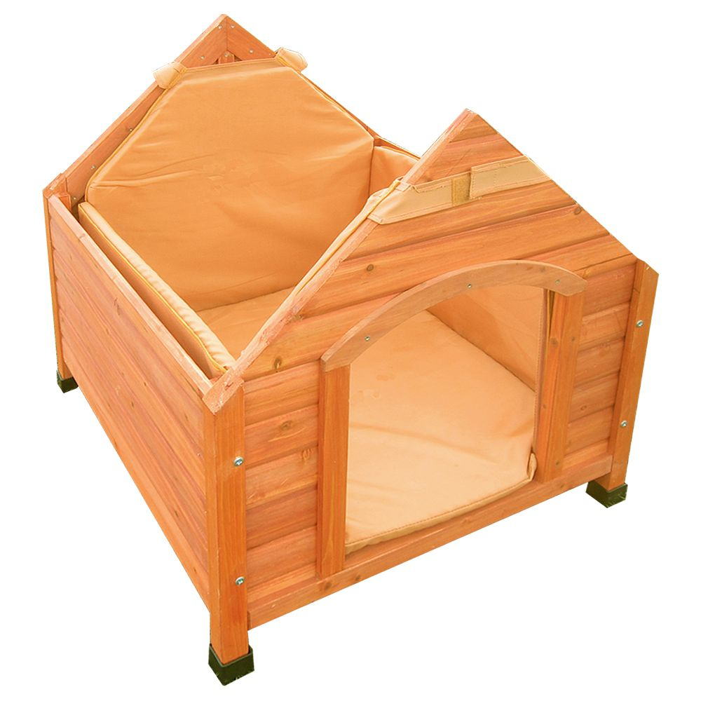 This Trixie dog kennel has specially raised feet in order to protect your dog from the cold and wet ground. Additionally, the kennel also promotes good air circula...