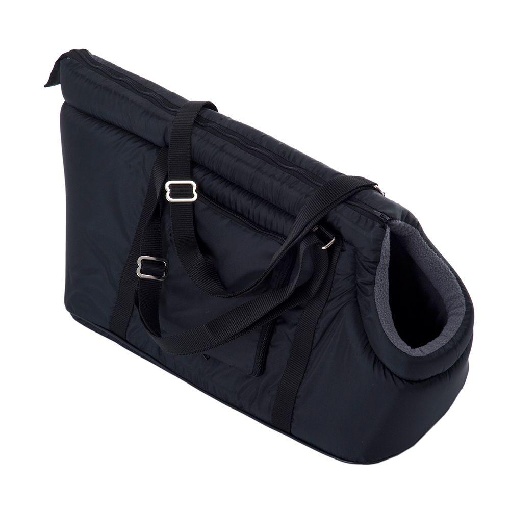 Sleek Nylon Travel Bag - Black - 45 x 21 x 24 cm (L x W x H)