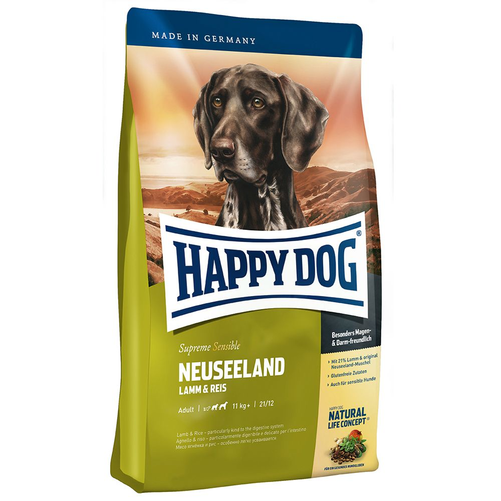 Happy Dog Supreme Sensible New Zealand Trial Pack - Dry (4kg) + Wet (6 x 400g) + Treats (6 x 10g)