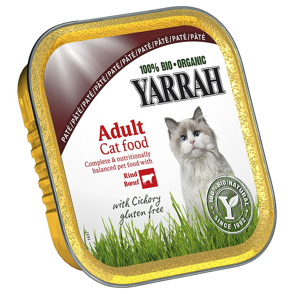 Yarrah Organic Tray Saver Pack 12 x 100g - Pâté: Chicken & Turkey with Aloe Vera