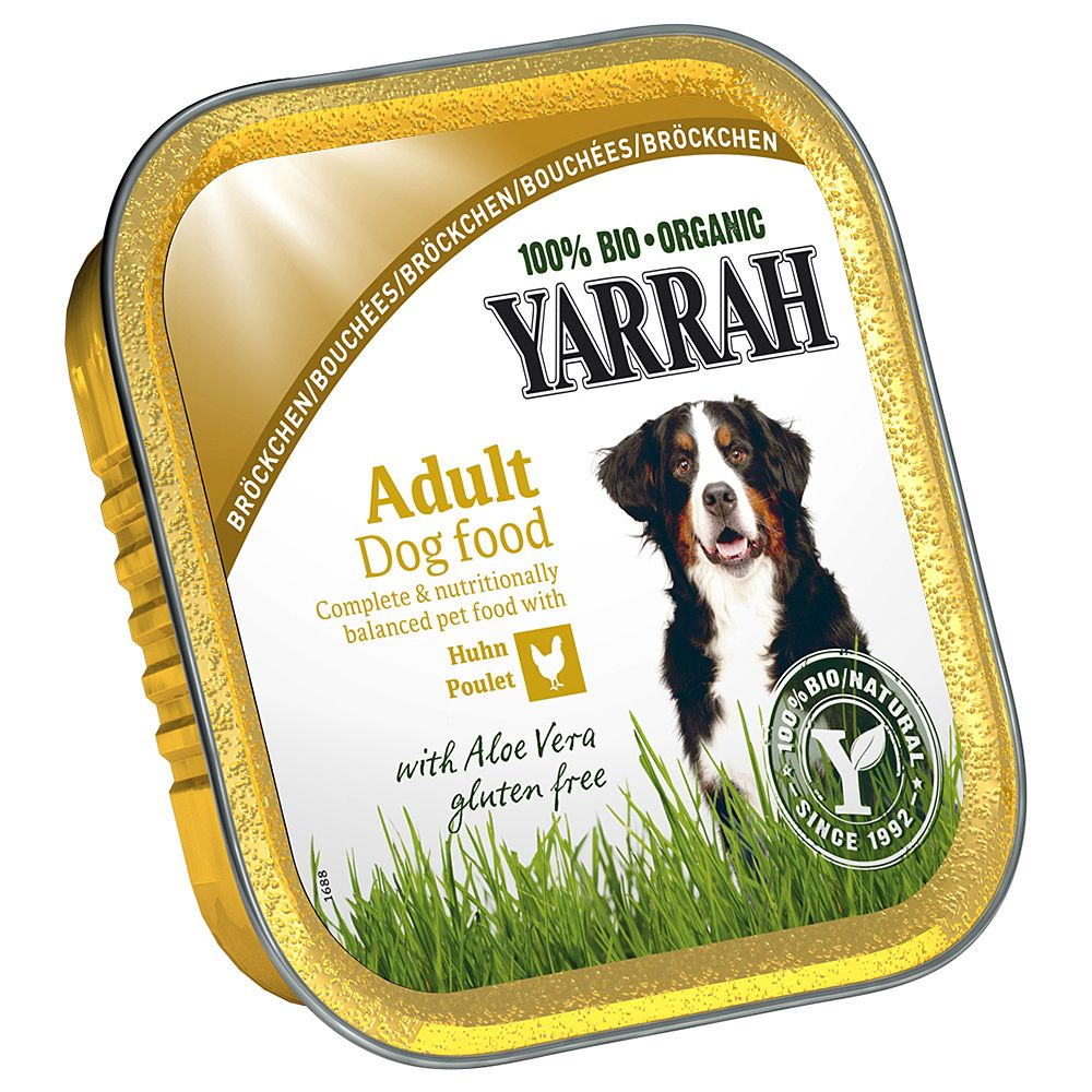 Yarrah Organic Pâté 6 x 150g - Saver Pack: 24 x Chicken with Seaweed
