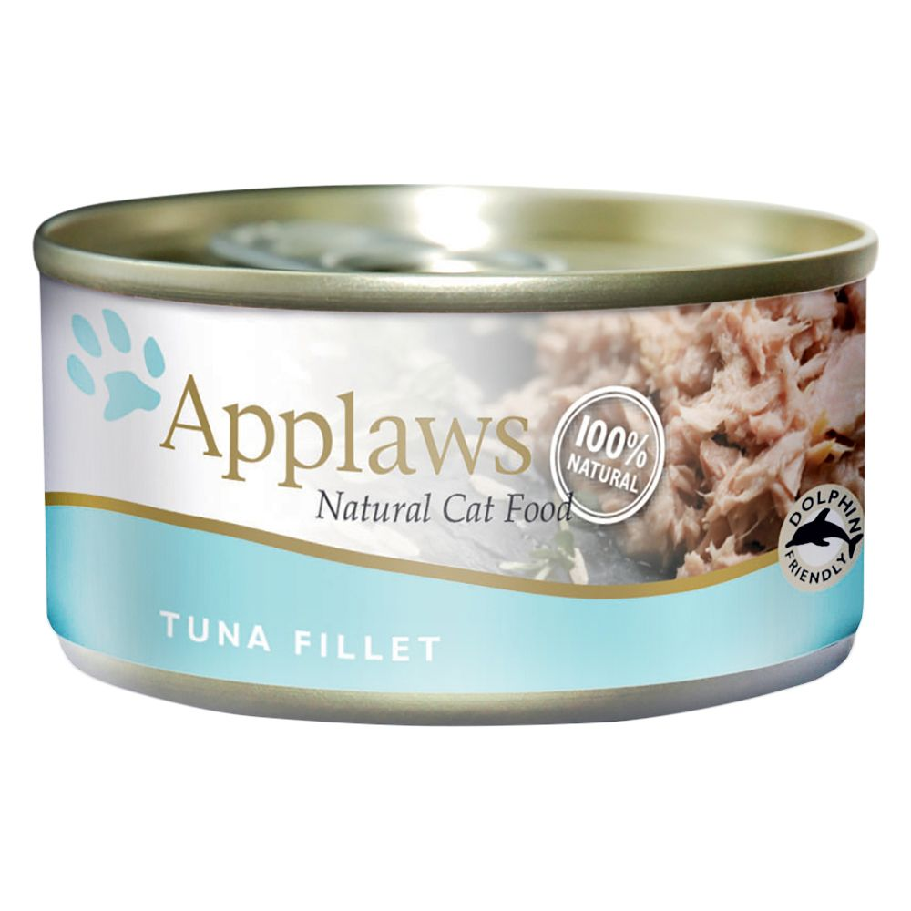 Tuna Fillet with Crab Applaws Wet Cat Food
