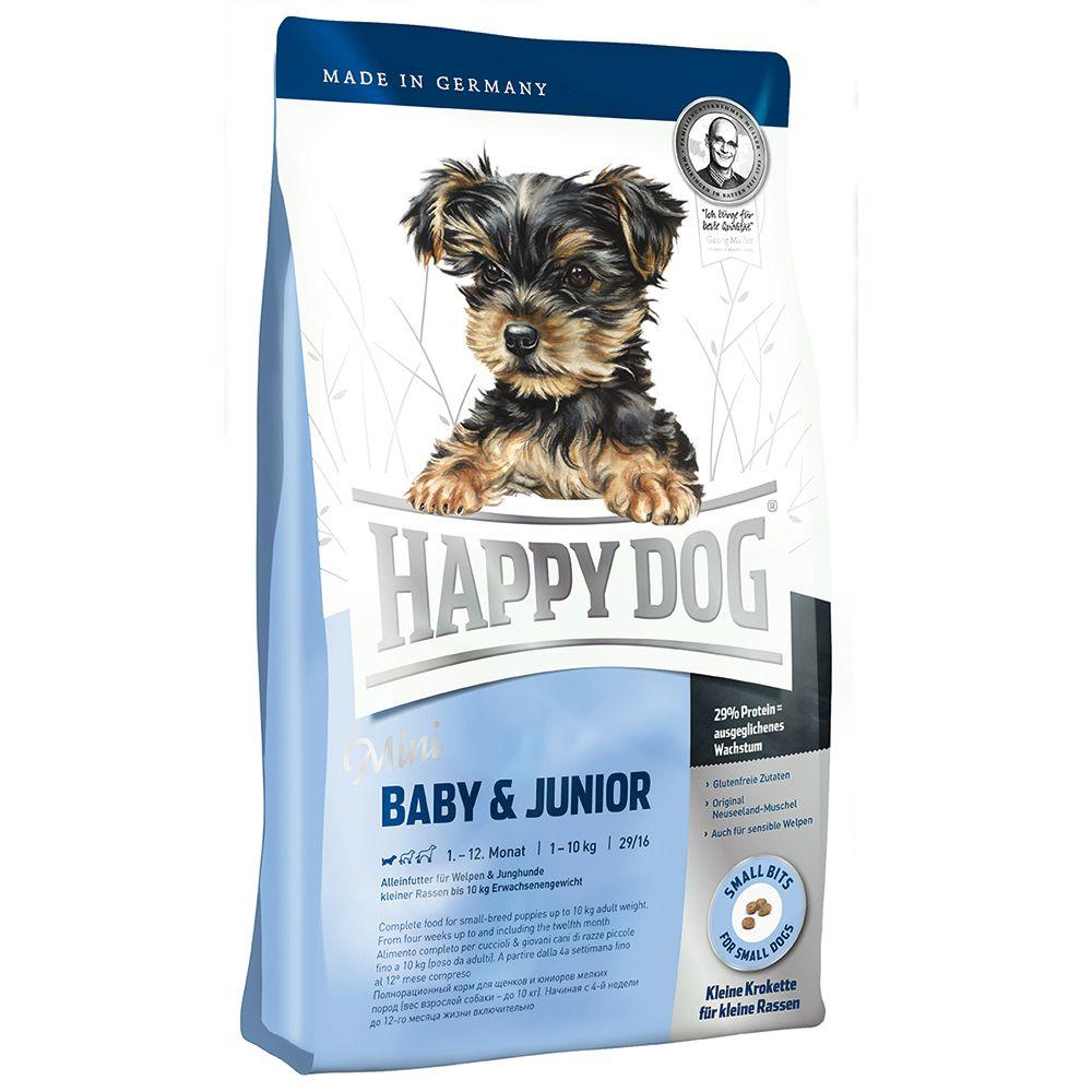 happy dog supreme mini 29 baby junior 4 kg preisvergleich hundefutter g nstig kaufen bei. Black Bedroom Furniture Sets. Home Design Ideas