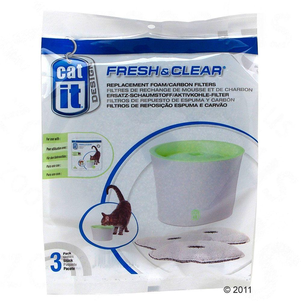 Filtres pour l´abreuvoir Catit Design Fresh & Clear 3 L - 3 filtres de rechange
