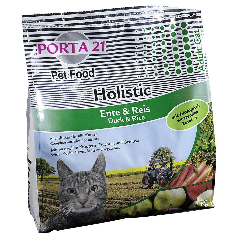 Porta 21 Holistic Cat Duck & Rice - Economy Pack: 2 x 10kg