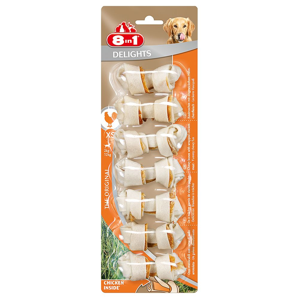 8in1 Delights Kauknochen Huhn - XS